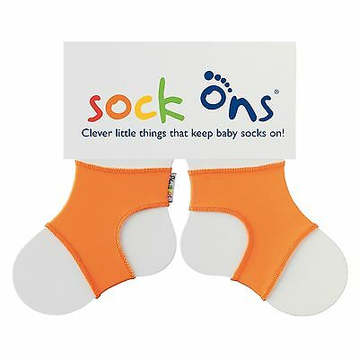Sock Ons Sockenhalter Babysocken Small 0-6m orange NEU
