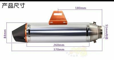 51mm Motorcycle CNC AluminumOff-Road Exhaust Muffler Silencer Slip-On Pipe