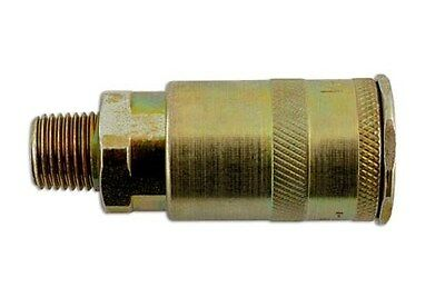 "Connect 30953 Fastflow Single Action Male Air Line Coupling 1/4"" BSP Pk 3"