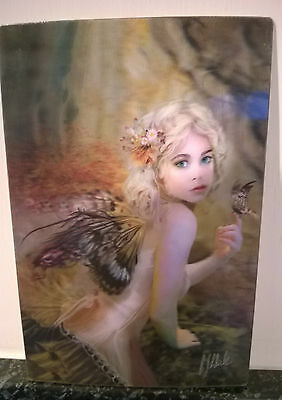 3D POSTCARD Gothic Art Gothic Fairy with Butterfly   10x15 cm appx