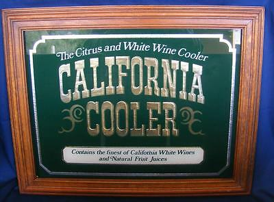 Vintage California Cooler Mirrored Framed Sign Advertisement Excellent