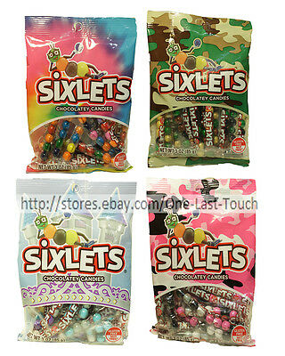 SIXLETS 3 oz Bag CHOCOLATEY CANDIES Gluten Free CANDY Exp. 8/17 *YOU CHOOSE* New