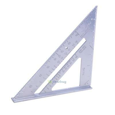 "7"" Aluminium Alloy Square Miter Protractor Measure Tool Roofing Triangle Joinery"
