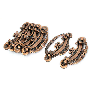 Antique Style Kitchen Cabinet Drawer Pull Handle Bronze Tone 6 Pcs