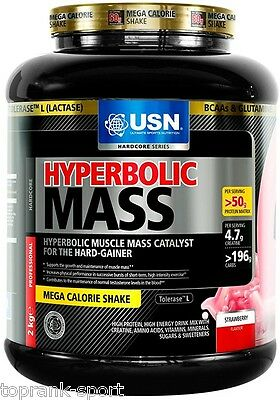 Special Offer USN Hyperbolic Mass 2Kg or 6Kg (Muscle Weight Gainer)