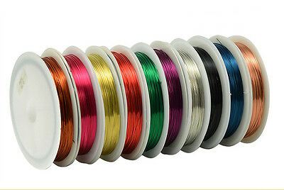 NEW Jewelry 0.3MM/20M(1roll) Copper wire craft wire Beaded line wrap Pick Color