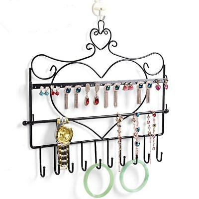 Necklace Earring Jewelry Display Organizer Stand Holder Wall Hanger Black