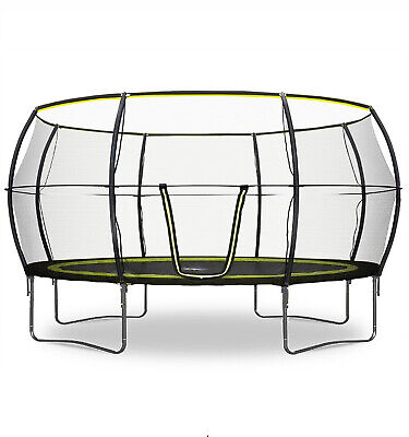 Rebo Base Jump Trampoline With Halo II Enclosure - 4 Sizes