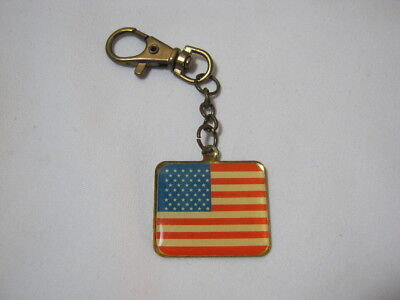 Vintage American Flag Patriotic Collectible Keychain  T*