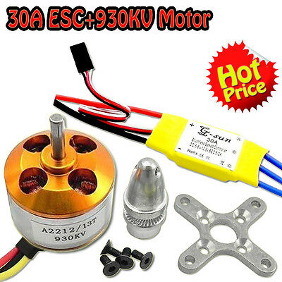 30A controller ESC+930KV Brushless Motor A2212 for 4 Axis Multi Quadcopter I
