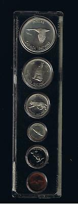1967 Canada Silver Year Set-  6 Coins In Plastic Case