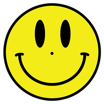 Acid man smiley face DJ / Turntable slipmats - high quality - brand new (PAIR)