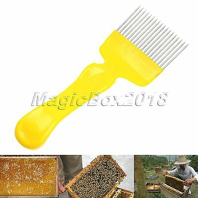 Bee Keeping Honeycomb Uncapping Fork Honey Comb Steel Tine Hive Scratcher Tool