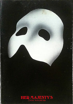 Phantom Of The Opera Her Majesty's A Stoll Moss Theatre Programme 1990