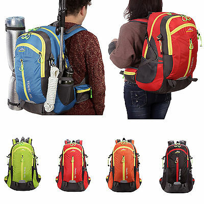 40L Outdoor Backpack Hiking Bag Camping Travel Waterproof Pack Mountaineering