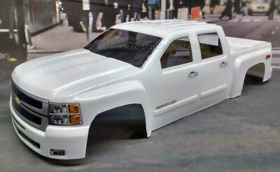 Chevy Silverado 2500 HD Custom Painted 1/10 RC Monster Truck Body For Stampede