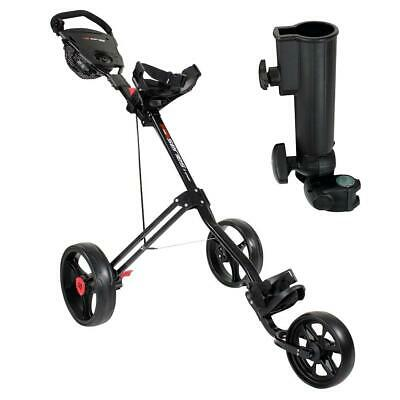 Masters Golf 5 Series 3 Wheel Trolley (Black) inc. Umbrella Holder