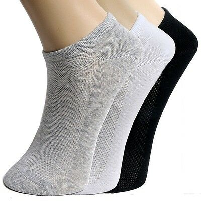 5 Pairs Mens Unisex Sport Cotton Casual Ankle Socks Women Low Cut Crew Socks