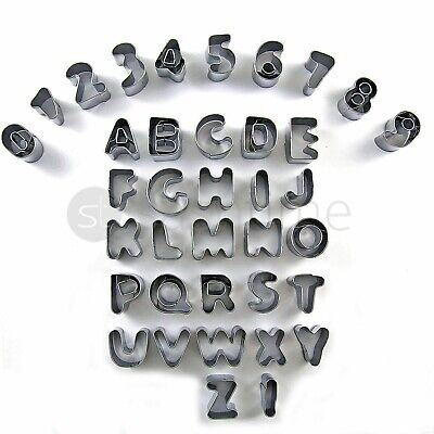 Fusion 37Pc Alphabet Number Fondant Icing Cutter Set Cake Cookie Decorating Mold
