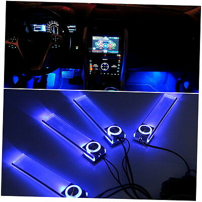 Blue Car Decorative Lights Charge LED Interior Floor Decoration Lamp 4 In 1 NK