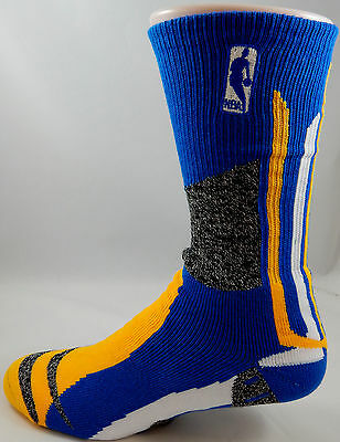 Warriors NBA Logoman Score Padded Socks Men s Large Medium Elite Curry Klay 823f5ac27