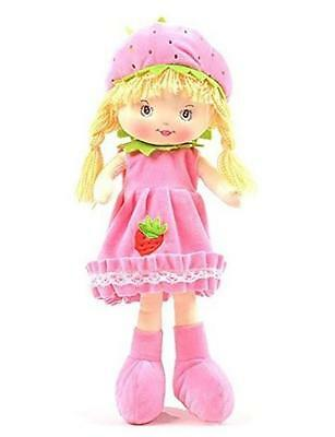 """Linzy Toys Strawberry Sweet Cakes Embroidered Fabric Doll 19"""""""