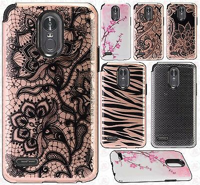 For LG Stylo 3 Hard IMPACT HYBRID Protector Skin Case Phone Cover Accessory
