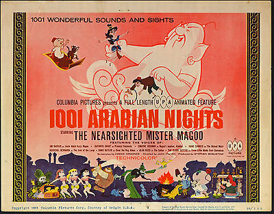 1001 ARABIAN NIGHTS original 1959 movie poster MISTER MAGOO