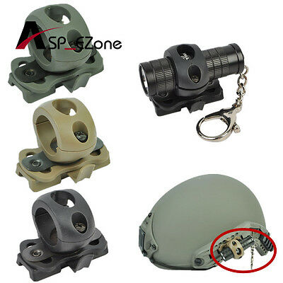 Tactical Quick Release 21mm Flashlight Clamp Holder Mount for Fast Helmet Black