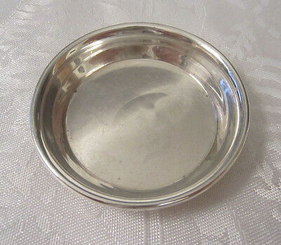Sterling Silver Butter Pat Dish -- Free Shipping *