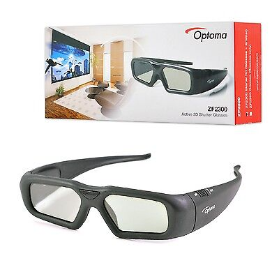 Original Optoma Projector Rechargeable Active Shutter 3D Glasses ZF2300 NEW