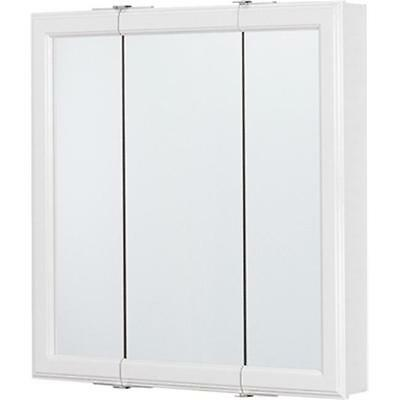 RSI Home Products Sales CBT24-WH-B 24 in. Tri-View Medicine Cabinet White