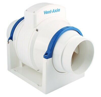 """Vent Axia ACM100 In-line Mixed Flow Bathroom Extractor Fan 100mm 4"""""""