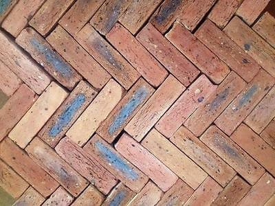 Reclaimed Queen Floor Tile Old  Brick Chicago Original Inside Cut
