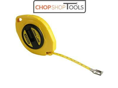 Stanley Tools STA034107 Closed Case Steel Long Tape 30m/100ft (Width 9.5mm)