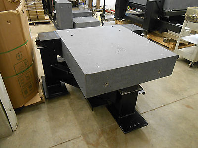 USED 1200 x 1000 x 250mm GRANITE ANTI-VIBRATION TABLE WITH 3 ISOLATORS