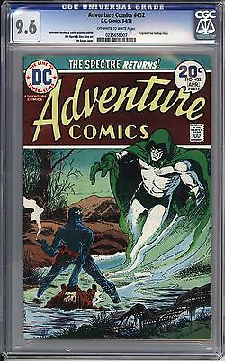 Adventure Comics #432 Cgc 9.6  Ow White Pages   The Spectre