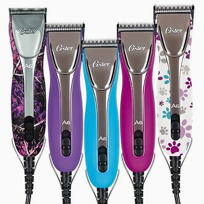 POWERFUL Oster A6 Slim 3-Speed Clipper - Bright Colors & Patterns to Choose