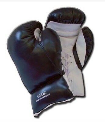 1 Pair Black 16oz Punching Boxing Gloves for Fighters Training Practice