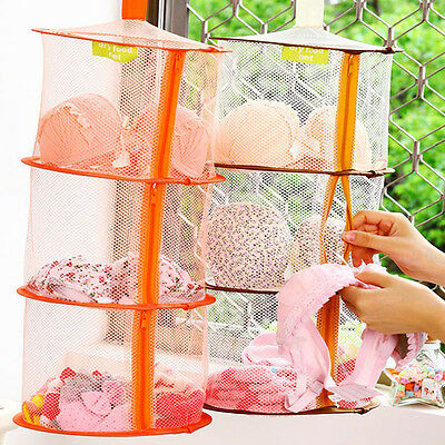 3Shelf Hanging Bag Storage Mesh Net Organizer Laundry Kid Toy Towel Socks Closet