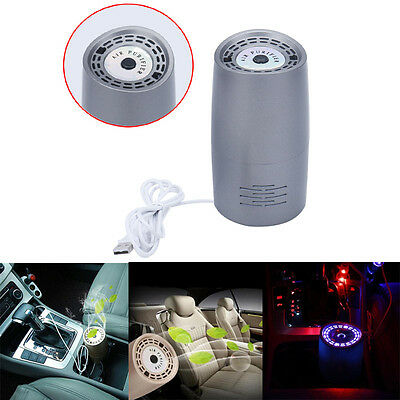 USB Car Home Air Cleaner Purifier Portable Mini Hepa Filter Ionizer Freshener