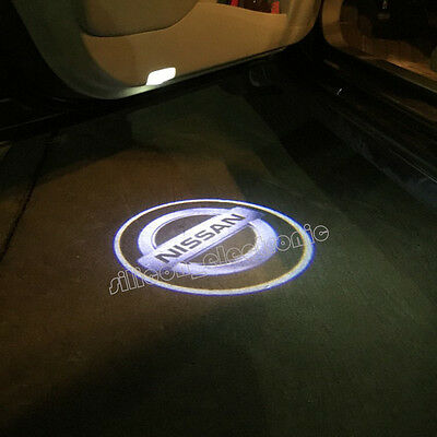 2 X LED Car Door Led Welcome Laser Projector Logo Ghost Shadow Light For Nissan