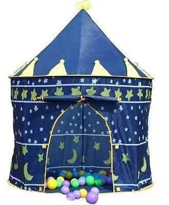 Childrens Kids Blue Magic Castle Garden Outdoor Indoor Playhouse Play Tent