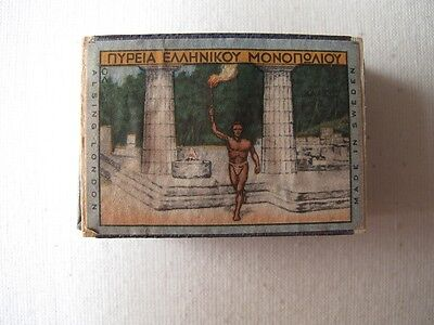 Greece  Olympics  Flame Torch 1936  Matchbook  Matchbox Unsused Ful Of Matches