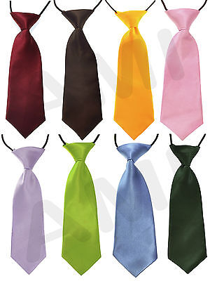 Babies/infants Silky Satin Pre-Tied Elastic Wedding Ties Formal Party Occasion