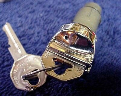 New One Hole Ignition Switch Lock Cylinder & Keys Chevy & Corvette 56 57 58 59