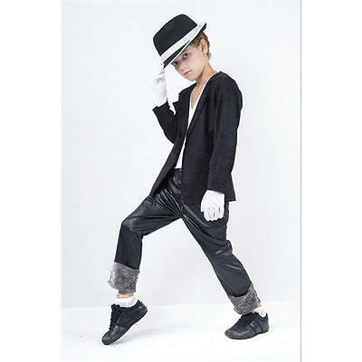Childrens Michael Jackson Fancy Dress Costume Superstar Childs Outfit M
