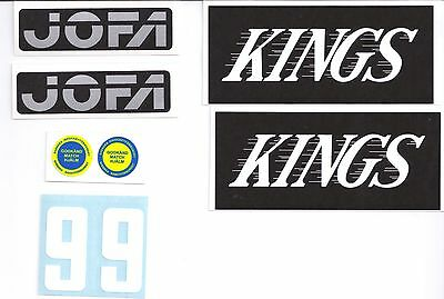 Replicated Vintage Jofa VM Helmet 225 & 235 51 Stickers Gretzky Kings White 99