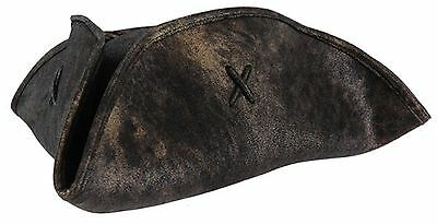 TRI-CORN Jack Sparrow Scallywag HAT Pirates of the Caribbean Patriot Black