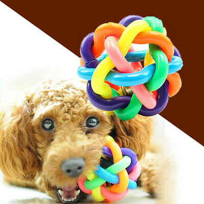 Pet Dog Puppy Dental Teething Chew Training Healthy Teeth Play bells Ball Toy